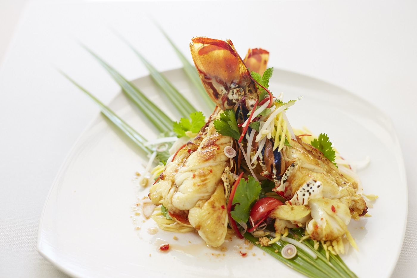 COMO Parrot Cay - Native Lobster Salad with Green Papaya, Coconut, Pomelo and Chili Dressing